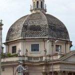 Rome - church of Santa Maria dei Miracoli in Piazza del Popolo — Stock Photo #19223515