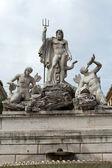 Rome - Fountain of Neptune in Piazza Popolo — Stock Photo