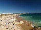 A section of the idyllic Praia de Rocha beach on the Algarve regio — Stock Photo