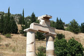 Prytaneion in the ancient Greek city Ephesus — Stock Photo