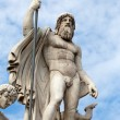 Rome - Fountain of Neptune in Piazza Popolo - Stock Photo