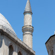 Istanbul - one of minarets Hagia Sophia. Turkey - Stock Photo