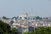 Istanbul - the panoramic view from the palace Topkapi — Stock Photo