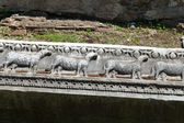 Istanbul - early Christian bas-reliefs with Hagia Sophia — Stock Photo