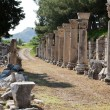Harbor Street  in the ancient Greek city Ephesus — Stockfoto
