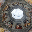 Florence - Duomo .The Last Judgement. Inside the cupola — Stok fotoğraf