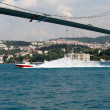 Istambul - Bosporus Bridge connecting Europe and Asia - Stock Photo