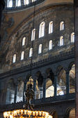 Interior of the Hagia Sophia in Istanbul. Turkey — Stock Photo