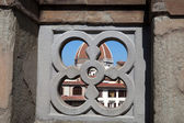 Florence - tracery on the balcony of the Gallery Uffizii — Stock Photo