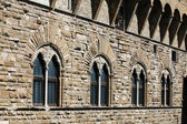 Florence - the raw stone wall Palazzo Vecchio — Stock Photo