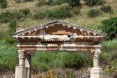 Fountain of Trajan in the ancient Greek city Ephesus — Stock Photo