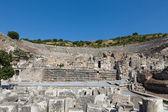 Greek-Roman amphitheater in the ancient city Ephesus — Stock Photo