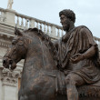 The equestrian statue of Marcus Aurelius in Capitoline Hill, Rome, Italy. — Stock Photo