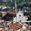 Florence - the view on Santa Croce from the dome Duomo — Stock Photo