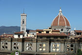 Florence - the view from the balcony of the Gallery Uffizi — Stock Photo