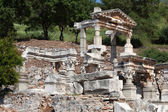 Fountain of Trajan in the ancient Greek city Ephesus — Stock Photo