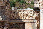 Temple of Hadrian in the ancient Greek city Ephesus — Stock Photo