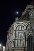 Firenze-la cattedrale di santa maria del fiore di notte — Foto Stock