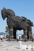 La copie du cheval de bois troy à canakkale, — Photo