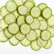 Freshly sliced cucumber isolated on white background — Stock Photo #22930056