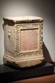 Ancient etruscan art. Sarcophagus of Chiusi, Tuscany. — Stock Photo