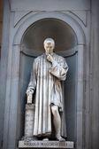 Los nichos de la columnata de los uffizi, florencia. — Foto de Stock
