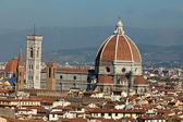 Cathedral of Florence Italy, View from the Michelangelo's Piazza — Stock Photo