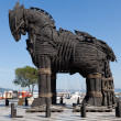 The copy of Troy wooden horse at Canakkale, Turkey - Stock Photo