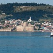 Stock Photo: Kilitbahir Castle in Canakkale,Turkey. view from Asion Europe