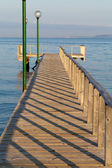 The wooden platform in Dardanelles. The view from Asia on Europe — Stock Photo
