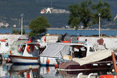 Boats in the port in Canakkale. Turkey — Stockfoto