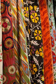 Turkish colourful fabrics from the silk and the cotton — Stock Photo