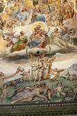Florence - Duomo .The Last Judgement. Inside the cupola — Stock Photo