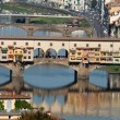Stock Photo: Ponte Vecchio, Florence,Tuscany, Italy . View from Michelangelo's Piazza