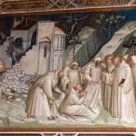 Fresco from Florence church - San Miniato al Monte — Stock Photo