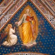 Fresco from Florence church - San Miniato al Monte - Stock Photo