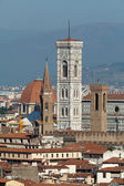 Florence,Tuscany, Italy . View from the Michelangelo's Piazza — Stock Photo