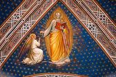 Fresk från Florens-kyrkan - san miniato al monte — Stockfoto