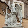 Rome - the angel on the facade of the church of San Rocco - Photo