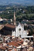 Florencia - la vista en santa croce desde el duomo de domo — Foto de Stock