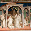 Fresco from Florence church - SMiniato al Monte — Stock fotografie #24536095
