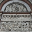 Lucca - detail from St Martin's Cathedral facade, Tuscany - Photo