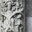 Lucca - detail from St Martin's Cathedral facade. Tuscany - Photo