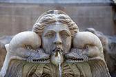 Sculptural detail of the baroque fountain in the Piazza della Rotonda Rome, Italy — Stock Photo