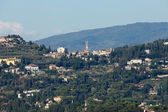 Florence - the view on Fiesole from the dome Duomo — Stock Photo