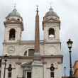 Stok fotoğraf: Church of Trinita' dei Monti (Spanish Steps) in Rome, Italy