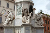 Rome - Biblical Statues at Base of Colonna dell'Imacolata — Stock Photo