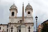 Church of Trinita' dei Monti (Spanish Steps) in Rome, Italy — Stock Photo