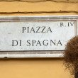 Street plate of famous Piazza di Spagna. Rome. Italy. — Stock Photo #25733993