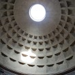 Interior view of the dome of the Pantheon in Rome, Italy. — Stock Photo #26017299